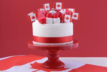 Happy Canada Day celebration cake
