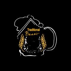 Abstract Beer Mug . Vector Logo Template.