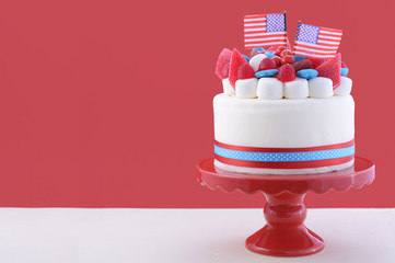 Happy Fourth of July celebration cake.