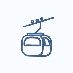 Funicular sketch icon.