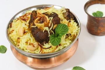 Lamb Biryani / Mutton Biryani, selective focus