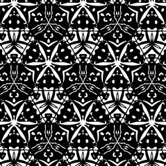 Ornament with elements of black and white colors. 25