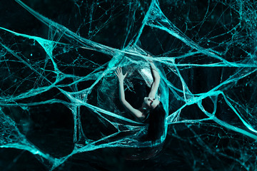 Girl in spiders web