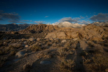 View of Lone Pine Peak and Rock Formations from Alabama Hills, Lone Pine, California