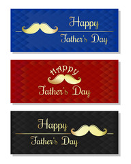 Set of abstract multicolored backgrounds, banners for Father's Day. Happy Father's Day card. Vector illustration