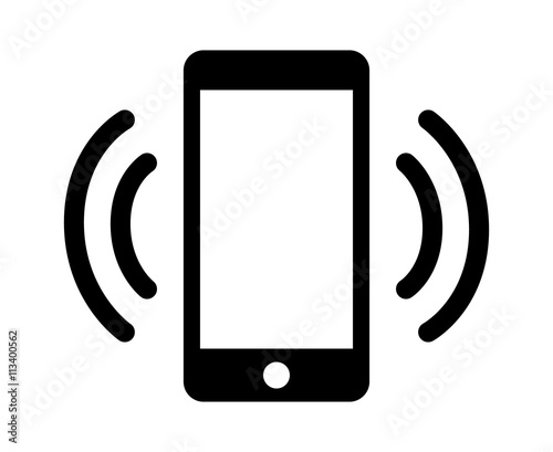 """Smartphone / Mobile Phone Ringing Or Vibrating Flat Icon"