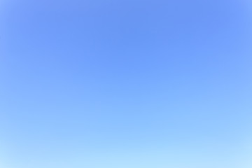 Clear blue sky without cloud background