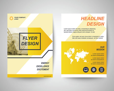 yellow flyer a4 template