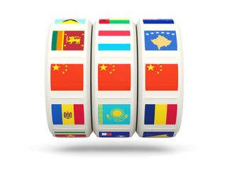 Slots with flag of china