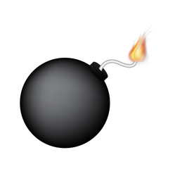a black bomb with fire