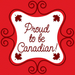 Doodle frame Canada Day card in vector format.