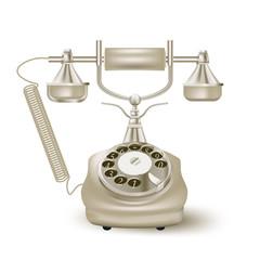 vintage phone on white. vector illustration
