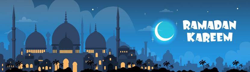 Ramadan Kareem Muslim Religion Holy Month Banner