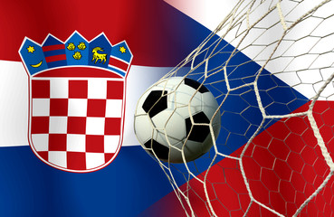 Soccer Euro 2016 ( Football ) Croatia and Czech.