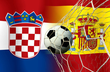 Soccer Euro 2016 ( Football )  Croatia and Span.