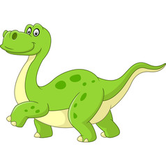 Cartoon dinosaur isolated on white background