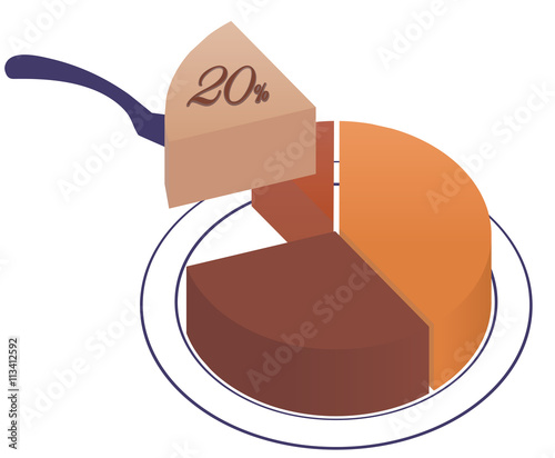 Infographics exploded pie chart with one sector 20 separated infographics exploded pie chart with one sector 20 separated from the rest ccuart Images
