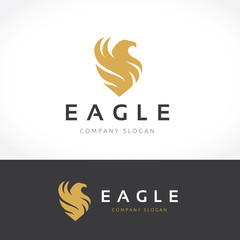 Eagle Logo, Phoenix logo vector logo template.
