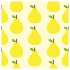 pattern vector background Cute fruit color Look delicious Round-
