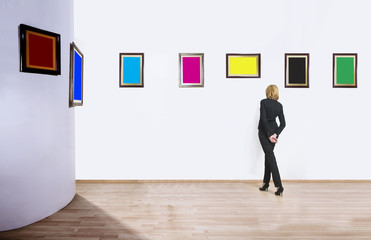 Art collector in museum