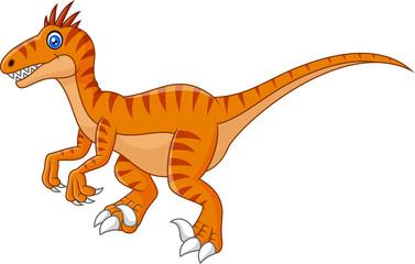 Cartoon dinosaur isolated on white background