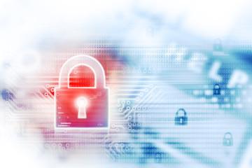 Fototapeta Digital Internet security