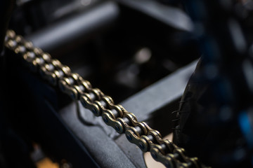 Motorcycle chain detail