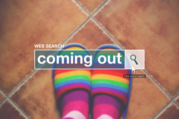 Coming out internet web page search box