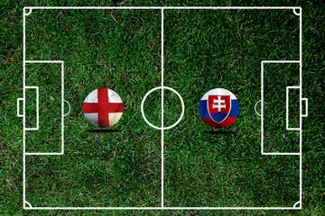 Soccer Euro 2016 ( Football )  England  and Slovakia