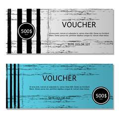 Gift voucher. Vector, illustration. Card template.