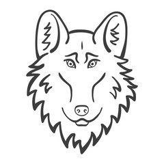 Wolf head Logo Mascot Emblem. Good cartoon wolf
