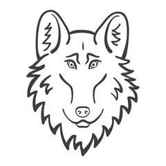 Wolf head Logo Mascot Emblem. Good cartoon wolf