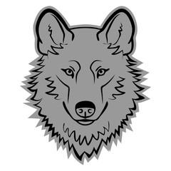 Wolf Logo Mascot Emblem vector. Wolf head