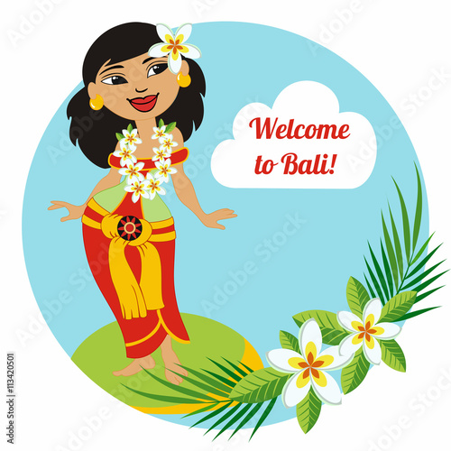 Beautiful balinese girl greeting card invitation welcome to bali greeting card invitation welcome to bali it can be altavistaventures Gallery