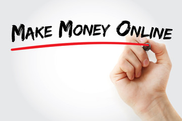Hand writing Make Money Online with marker, business concept