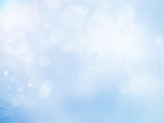 Abstract bokeh background color blue