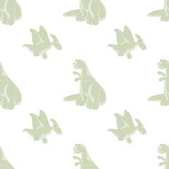 Seamless pattern. Funny dinosaurs