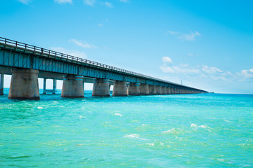 View of the old Seven Mile Bridge along the Florida Keys