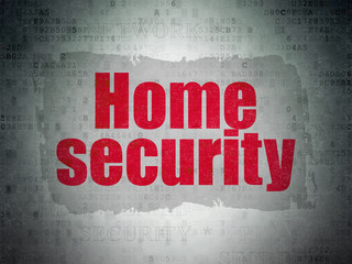 Security concept: Home Security on Digital Data Paper background