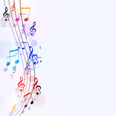 Bright Music Notes