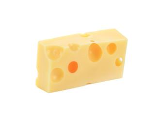 piece of Emmentaler cheese