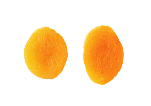 two dried apricots