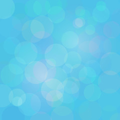Blue abstract circle lights vector bokeh background.