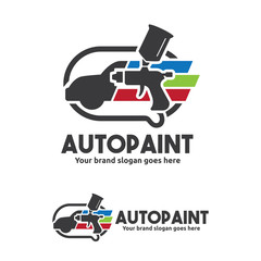 Car Paint with Spray Gun Logo Template