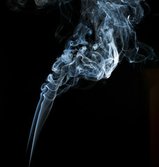 Abstract light smoke on a black background