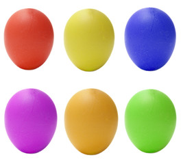 Set of colored eggs