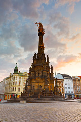 Foto op Canvas Barcelona Holy Trinity Column in the main square of the old town of Olomouc, Czech Republic.