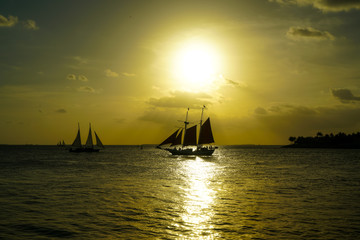 Windjammer Sails into the Sunset