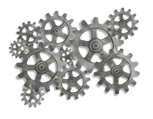 cog cogs on white background
