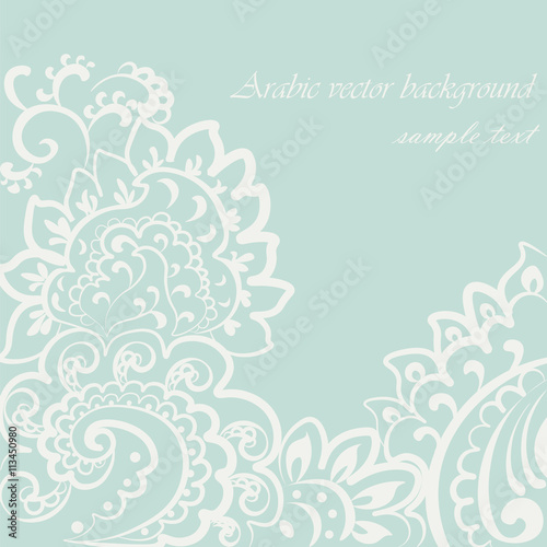 Vector Vintage Lace Ornament Oriental Motif Style Ornate Element For Design Wedding Invitations